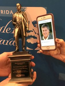 Andy couldn't be there in person to accept the Gold 'Henry,' so ...